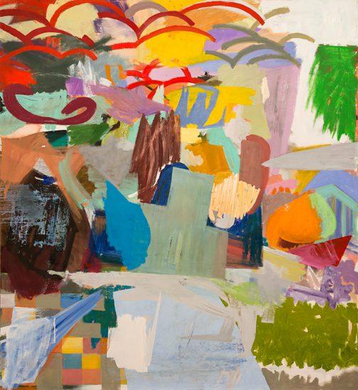 o. T. (Über die Schiffahrt), 2013 oil on canvas 200 x 220 cm