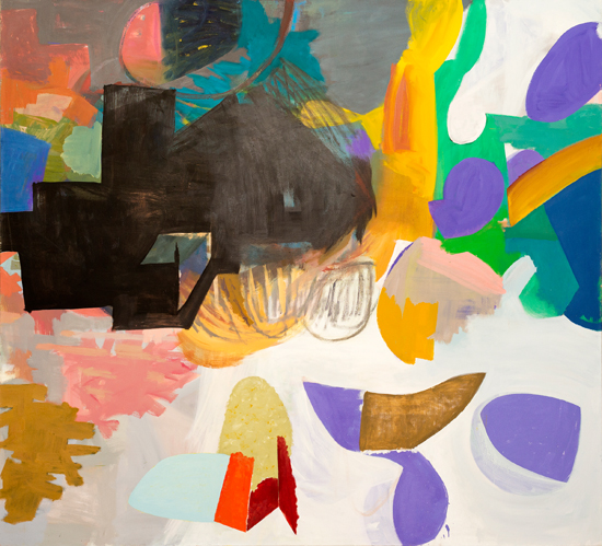 o.T. (Warmes Schwarz) 2015 oil on canvas 200 x 220 cm