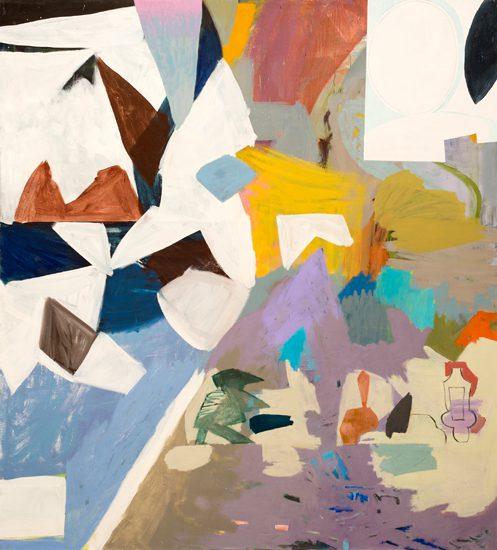o.T. (Rauhe Diagonale), 2016 oil on canvas 200 x 220 cm