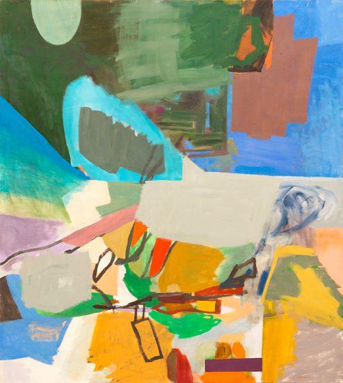 o.T. (Vor dem Blau - Blendung) 2014 oil on canvas 180 x 160 cm