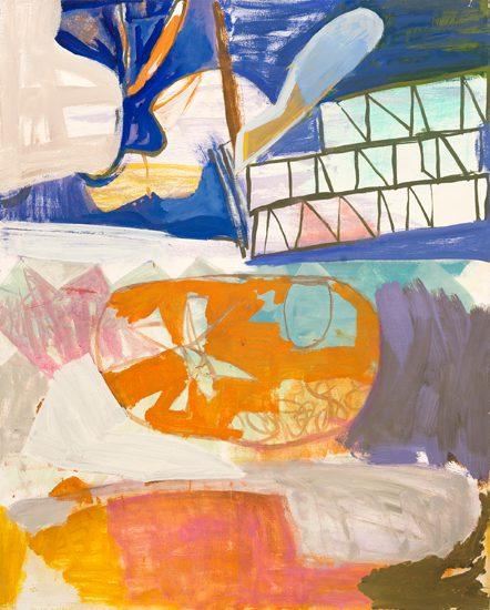 o.T. (Abheben), 2011 oil on canvas 100 x 80 cm