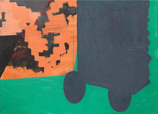 "o.T. (zu ""Nord""), 2008 oil on canvas, pencil 36 x 50 cm"