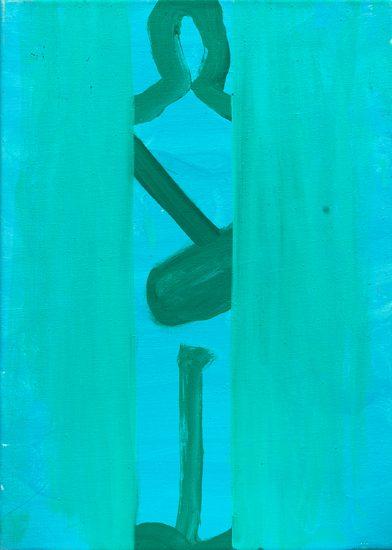 o.T. (Auftritt), 2011 oil on canvas 50 x 36 cm