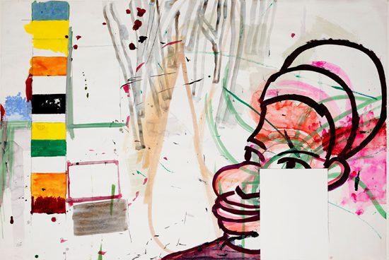 o.T. (Kartographie), 2009 gouache, watercolor 70 x 100 cm