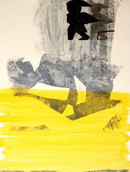 o.T., 2013 monotype 100 x 70 cm