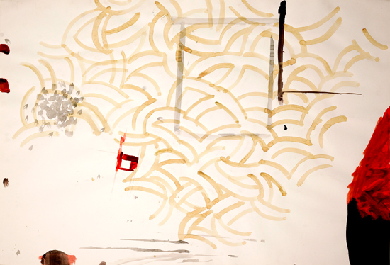 o.T. (Pensées à Matisse), 2009 gouache, watercolor 70 x 100 cm
