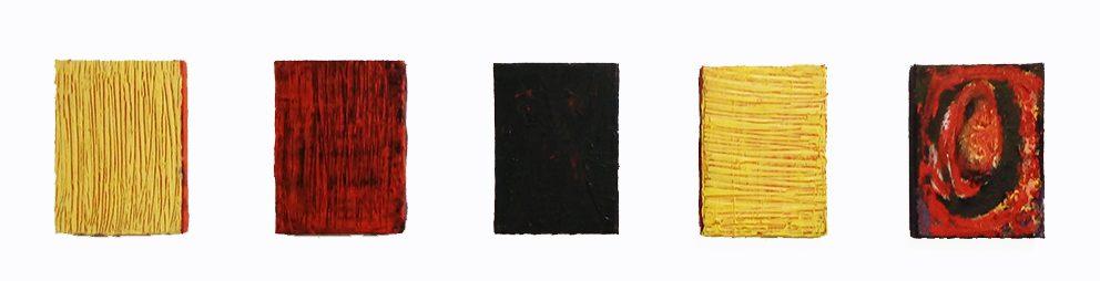 Fünf Fensterblicke, 214-16, Öl auf Leinwand, 13 x 18 cm