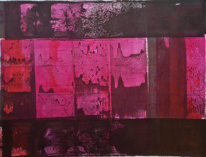 Japanisches Radio 8, 2014, Tusche, Papier (Rives), 53 x 66 cm, framed
