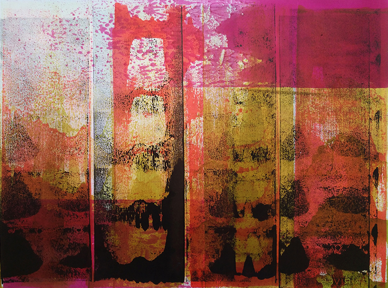 Japanisches Radio 1, 2016, Tusche, Papier (Rives), 53 x 66 cm, framed