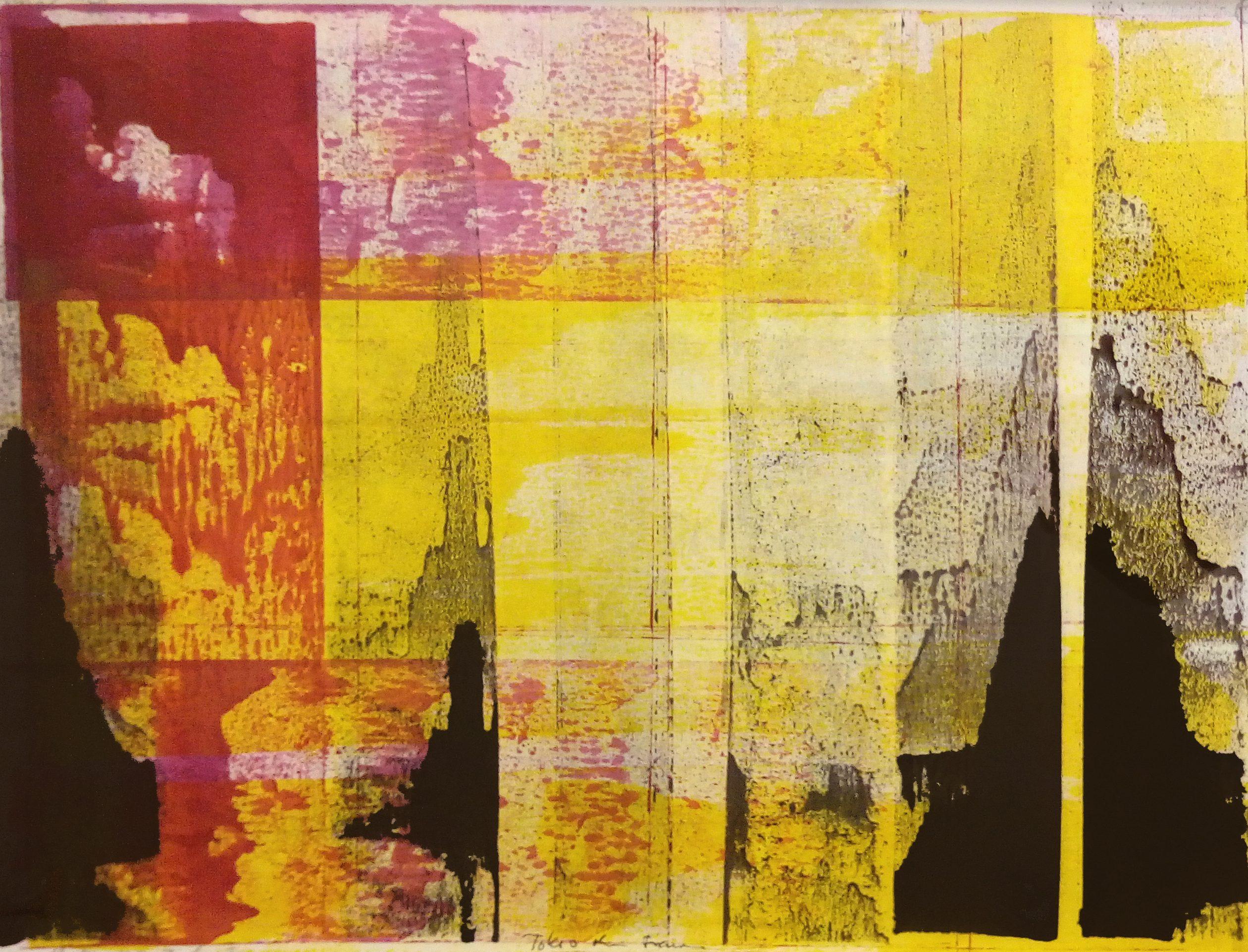 Tokyo ohne Traum, 2017, Tusche, Papier (Rives), 53 x 66 cm, framed