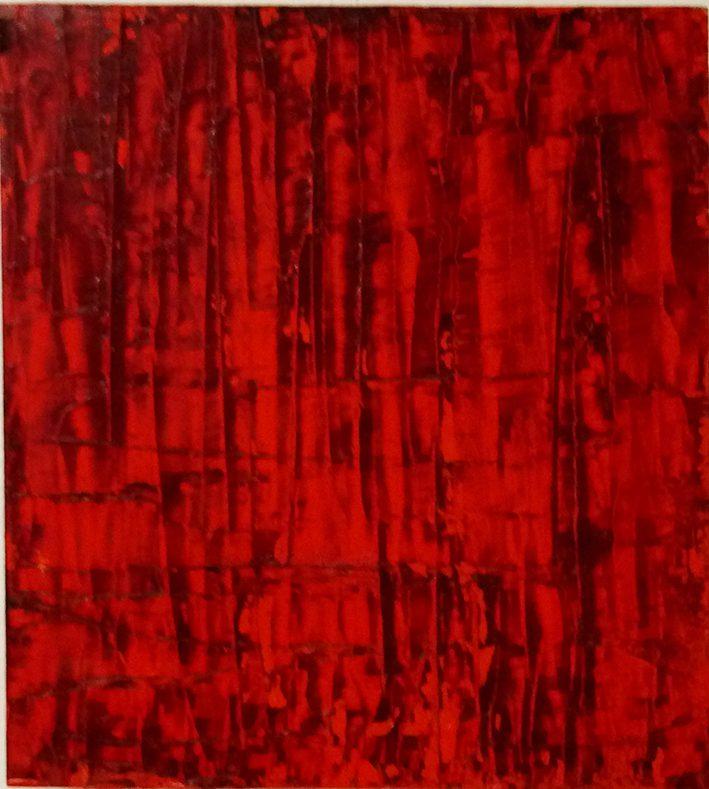 Chinesische Landschaft 6, 2013-14, Öl auf Holzkasten, 48 x 38 x 7