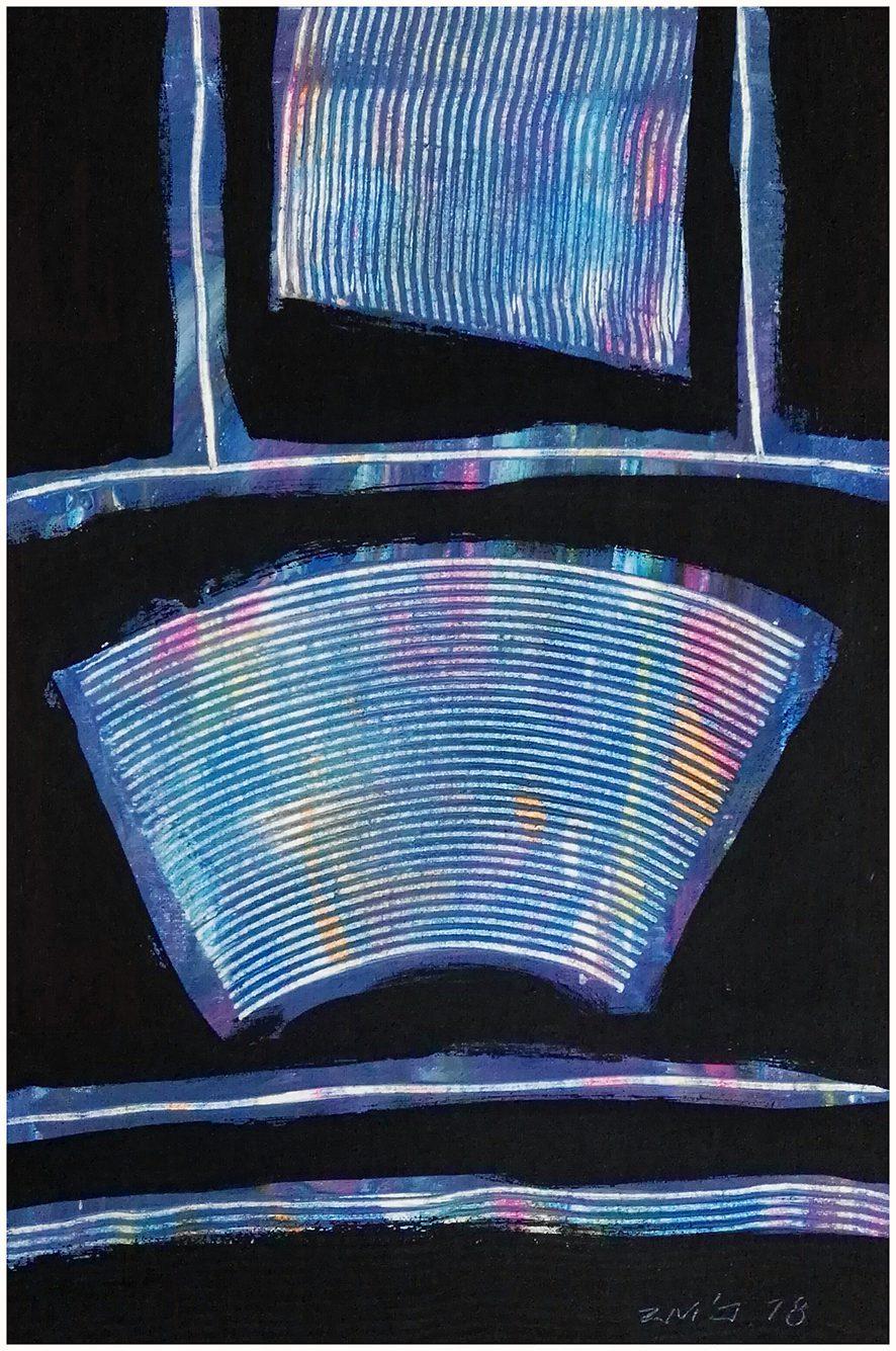 Zhao Mengjun Schatten eines Traums 2017, Acrylic, propylene on canvas, 60 x 40 cm, framed.