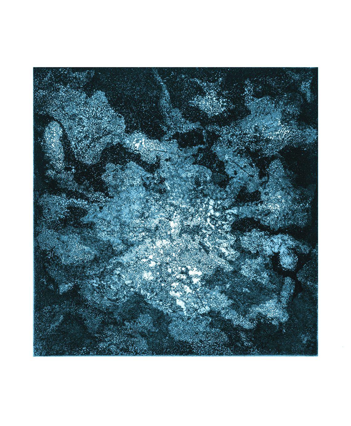 Chope de Luz (Silberpappel), 2014. Aquatinta on paper, 20 x 20 cm Unique: Framed.