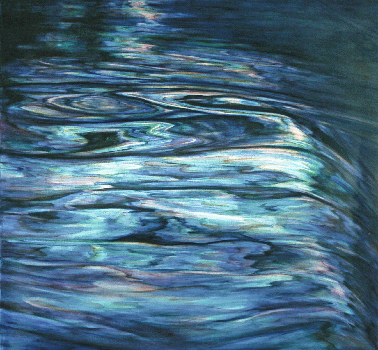 L'Arno 4, 2013. Oil on canvas, 93 x 83 cm