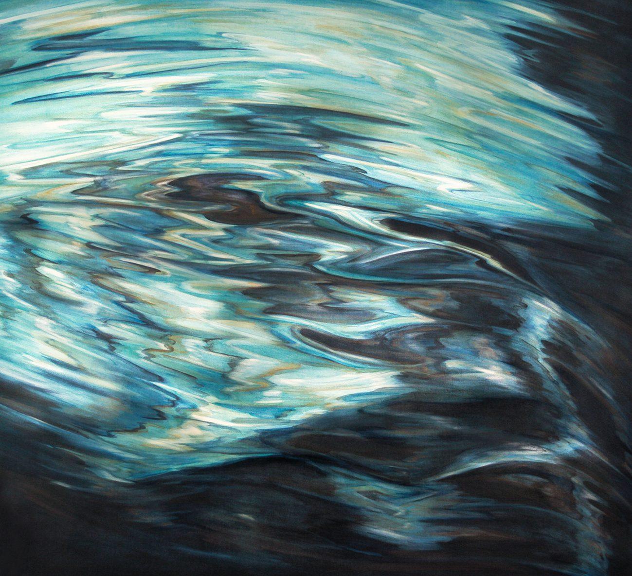 L'Arno 5, 2013. Oil on canvas, 93 x 83 cm