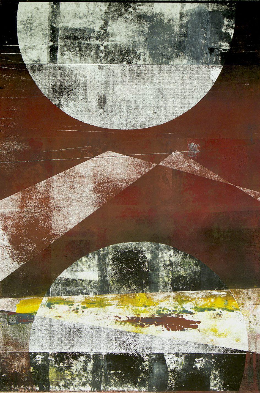 Venedig, 2018. Monotype, 70 x 100 cm. Unique. Framed