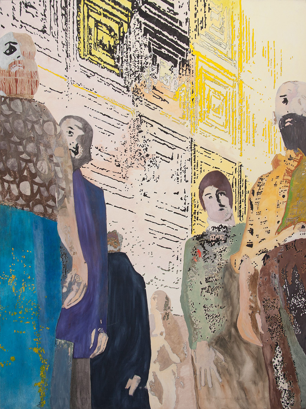 Bystanders, 2010. Acrylic on canvas, 150 x 185 cm