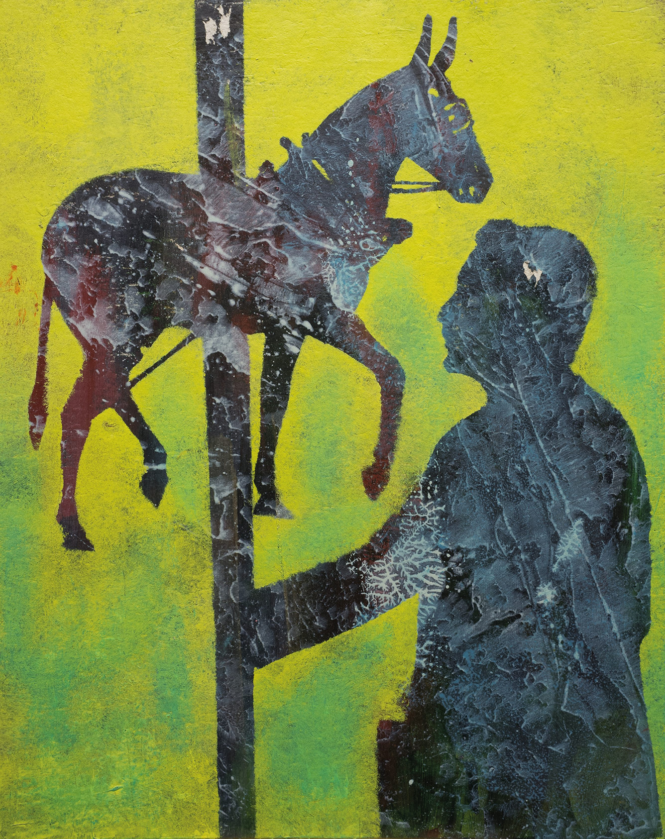 Der Unterhändler, 201. Acrylic on cardboard, 32 x 40 cm