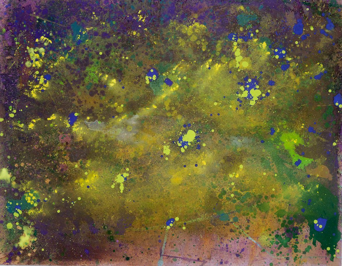 14 Galactica, 2018. Acrylic and oil on canvas 140 x 180 cm