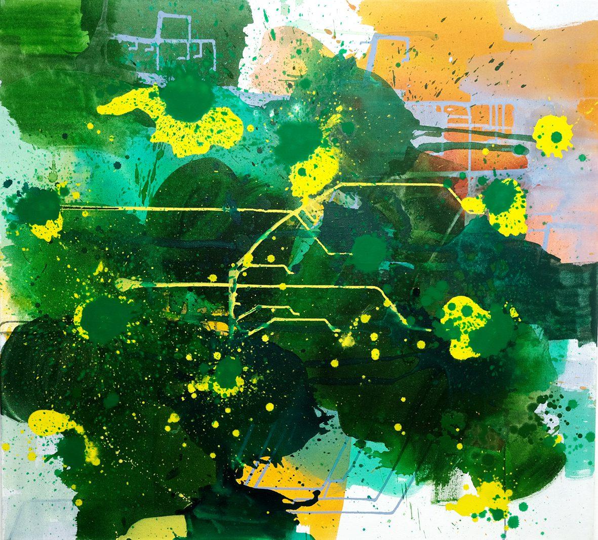 7 Laguna 1, 2016. Acrylic and oil on canvas, 100 x 110 cm.