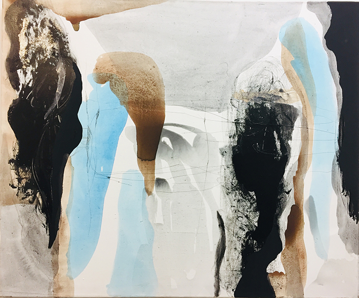 1 Tulips, 2016. Acrylic and oil on canvas, 70 x 100 cm